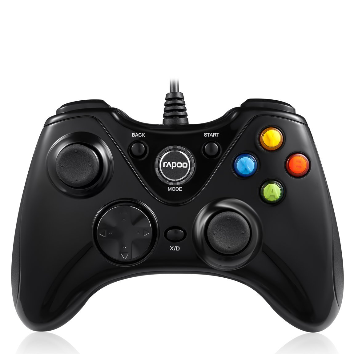จอย Rapoo - V600 (ดำ) ใช้งานได้แบบ Xbox 360