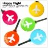 HAPPY FLIGHT Round Luggage Tag ป้ายห้อยกระเป๋าเดินทาง