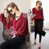 Sevy Long Sleeved Red Wine Shirt With Harlem Pants