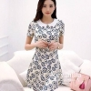 Icevanilla Floral Pearl & Diamond Print Dress