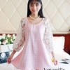 IceVanilla Hollow Sleeve Crochet Lace Princess Dress