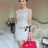 Lady Ribbon Flower Embroidered Chiffon Mini Dress