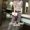 Seoul Secret ชุดเซ็ทเสื้อกางเกงเข็มขัด