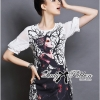 Lady Ribbon Wicked Girl Print Dress
