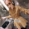 Lady Ribbon Minimal Chic Cotton Shirt Dress with Belt
