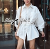 Lady Ribbon White Shirt Dress with Belt