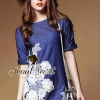 Seoul Secret Blue Denim Lace Furnish Dress