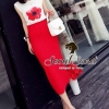 Seoul Secret Blossom Print Cami with Long Red Skirts