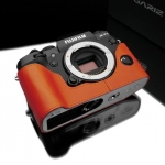 Gariz Leather Half-case for Fuji X-T1 : Orange