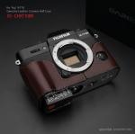 Gariz Leather Half-case for Fuji X-T10 : Brown