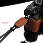 Gariz Leather Wrist Strap : XS-WBL1 (Orange)