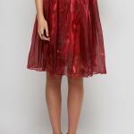 Red Shining Skirt