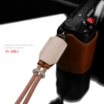 Gariz Leather Wrist Strap : XS-WBL5 (Tan beige)