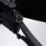 Gariz Leather Wrist Strap : XS-WFSN1 (Black)