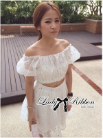 Lady Ribbon Pretty Daisy Embroidered Set