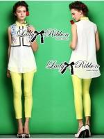 Lady Ribbon Pretty Floral Yellow Set