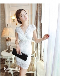 IceVanilla Linda Aristocratic Lace Dress