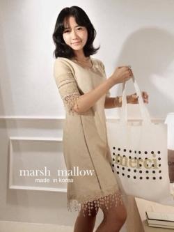 Marsh Mallow Coco Lace Stitch Dress