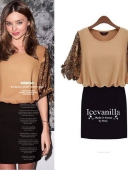 IceVanilla Nibbuns Hip Printing Dress