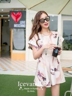 Icevanilla Nana Summer Print Dress