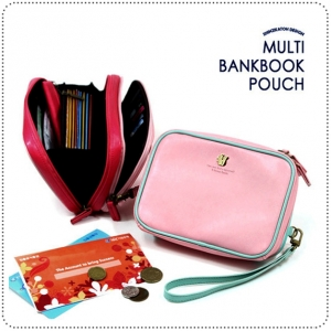Multi BankBook Pouch กระเป๋าหนังใส่สมุดบัญชี