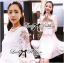 Lady Ribbon Classic White Lace Pleated Dress thumbnail 2