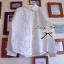 Lady Ribbon Floral Lace Shirt เสื้อเชิ้ตแขนยาว ลูกไม้ซีทรู thumbnail 6
