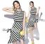 Lady Ribbon Lady Charlies Mix Striped Monochrome Dress thumbnail 1