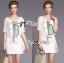 Lady Ribbon Dress Set ชุดเซ็ทเดรสปักเลื่อมสีขาว พร้อมเข็มขัด thumbnail 1
