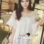 Seoul Secret Bell Sleeve Ivory Lace Net Tops on Long Blouse thumbnail 4