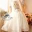Odee Cutie White Dress เดรสแขนสั้นสีขาว ปักดอกไม้สีหวาน thumbnail 8