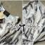 Lady Ribbon Chiffon Dress เดรสผ้าชีฟอง พิมพ์ลายขนนก thumbnail 11