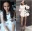 CelebStyle White Organza Dress เดรสผ้าแก้วสีขาว แต่งระบาย thumbnail 3