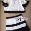 Lady Ribbon Minimal Chic Set ชุดเซ็ทเสื้อครอปและกระโปรง สีขาวดำ thumbnail 8