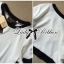 Lady Ribbon Minimal Chic Set ชุดเซ็ทเสื้อครอปและกระโปรง สีขาวดำ thumbnail 9