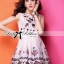Lady Ribbon Crystal Embellished Cotton Silk Dress thumbnail 1