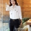 Icevanilla Star Jewels and L ace 3D Stitch Luxury Shirt thumbnail 7