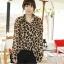 Animal Print Fashion เสื้อเชิ้ตผ้าชีฟอง พิมพ์ลาย Leopard thumbnail 2