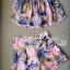 Lady Ribbon ชุดเซ็ทเสื้อเปิดไหล่และกางเกงเอวสูง สีชมพู สีฟ้า thumbnail 11