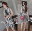 Lady Ribbon Lady Charlies Mix Striped Monochrome Dress thumbnail 8