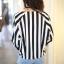 Chic Black n White Striped Jacket thumbnail 2