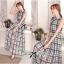 Lady Ribbon Maxi Dress เดรสยาว ผ้าพิมพ์ลายตาราง thumbnail 6
