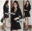 Lady Ribbon Smart Casual Wrap Suit Dress thumbnail 3