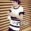 Lady Ribbon Minimal Chic Set ชุดเซ็ทเสื้อครอปและกระโปรง สีขาวดำ thumbnail 7