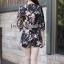 Seoul Secret Sakura Outer Set ชุดเสื้อคลุม กางเกงลายดอกซากุระ แถมเข็มกลัด thumbnail 8