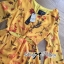Lady Ribbon Floral Printed Cut-Out Twist Jumpsuit in Yellow thumbnail 6