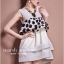 Marsh Mallow Polka Dot and Strip Dress thumbnail 1