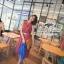 Odee Cutie Maxi Dress เดรสยาวสีแดง ลายดอก พร้อมเข็มขัดเข้าเซ็ท thumbnail 4