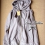 Lady Ribbon Wing Hood Outer เสื้อคลุมมีฮู้ด สีเทา-ดำ ติดปีกนางฟ้า thumbnail 9