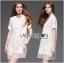 Lady Ribbon Crystal Embellished Organza Shirt Dress thumbnail 3